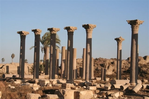 Beautiful view of the ruins hermopolis
